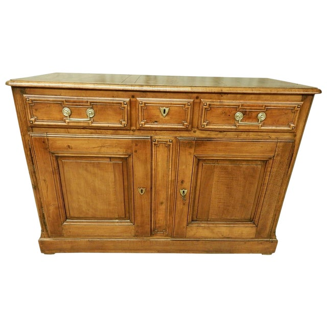 Early French Walnut 19th Century Directoire' Buffet For Sale