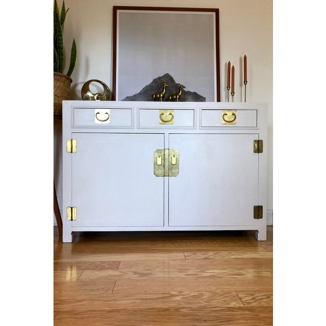 Metal 1960's White Credenza by John Stuart For Sale - Image 7 of 9