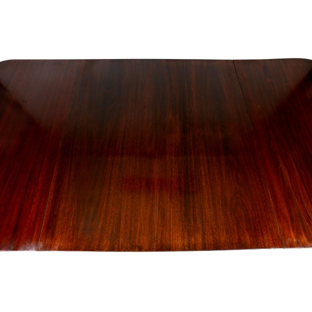 Regency Mahogany Two Pedestal Dining Table For Sale - Image 4 of 10
