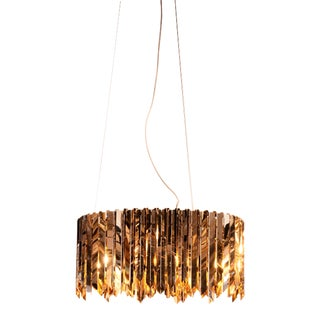 Peron Glam Chandelier, Silver and Gold For Sale