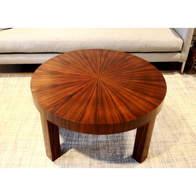 Art Deco Jean Michel Frank Style Circular Wood Coffee Table - Image 7 of 9