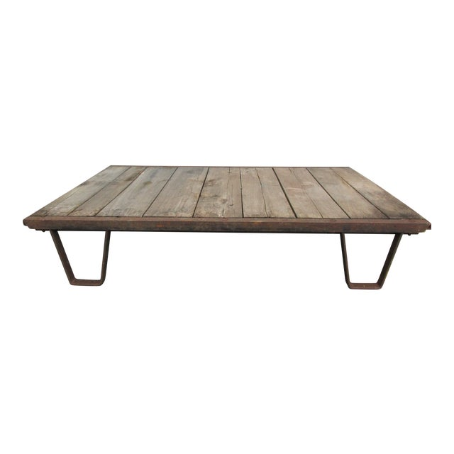 20th Century Industrial Pallet/Coffee Table For Sale