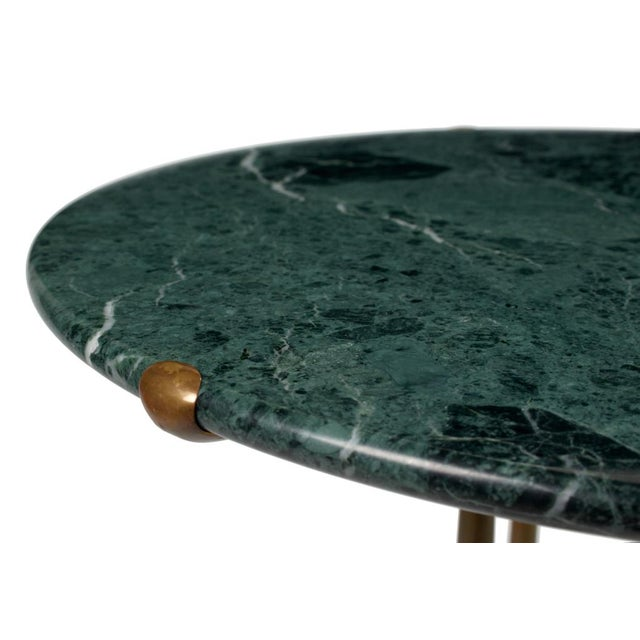 Cedric Hartman Round Verde Issorie Marble Gueridon by Cedric Hartman For Sale - Image 4 of 7