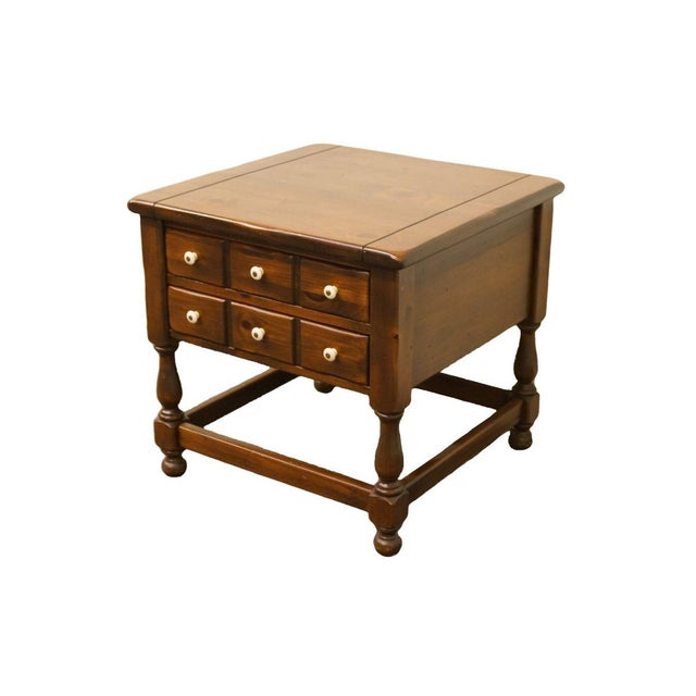 Late 20th Century Vintage Ethan Allen Pine Nightstand For Sale - Image 13 of 13