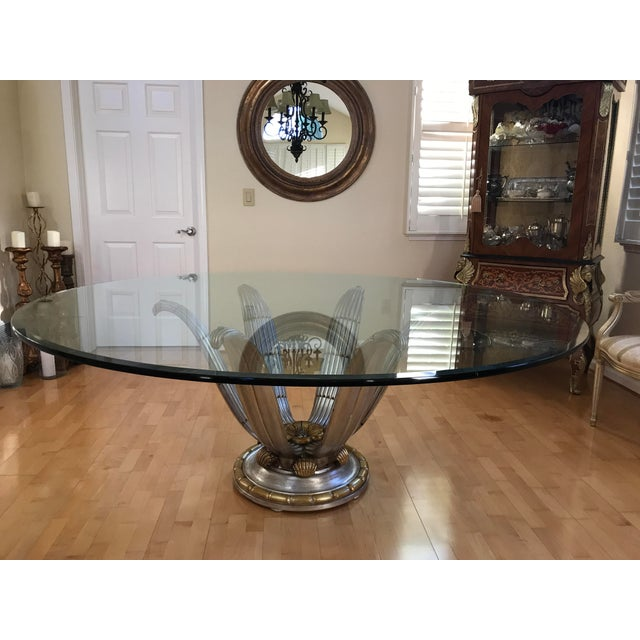 Italian Glass Top Dining Table - Image 2 of 6