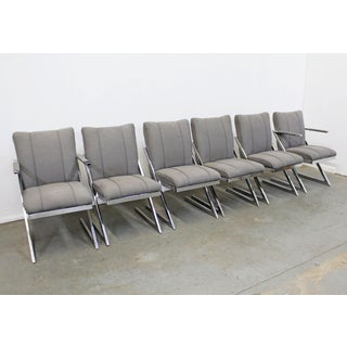 Set of 6 Mid-Century Modern Milo Baughman Z-Bar Cantilever Dining Chairs Preview