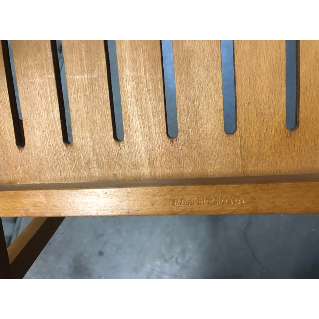 1960s Vintage Danish Romanian Wood Folding Dining Chair For Sale - Image 10 of 11