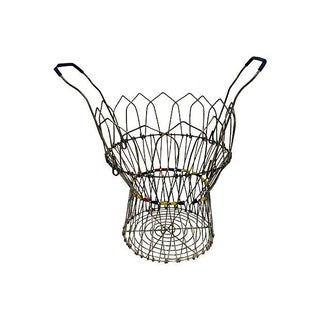 French Handled Egg Wire Basket