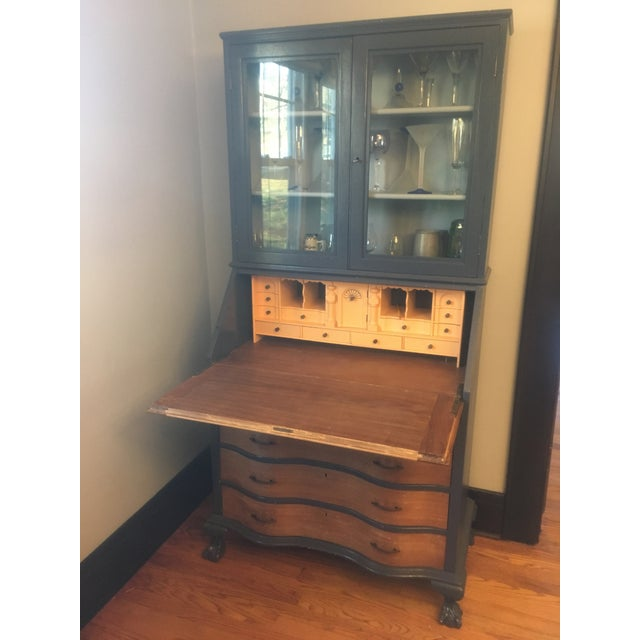 19th Century Chippendale Slant Front Mahogany Maddox Secretary Desk For Sale - Image 4 of 11