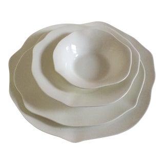 Villeroy & Boch Stella Blossom White Premium Porcelain Plates - Set of 4