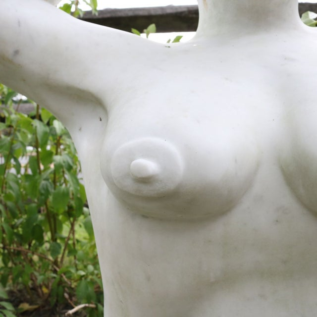 White Marble Nude Sculpture - Image 11 of 11
