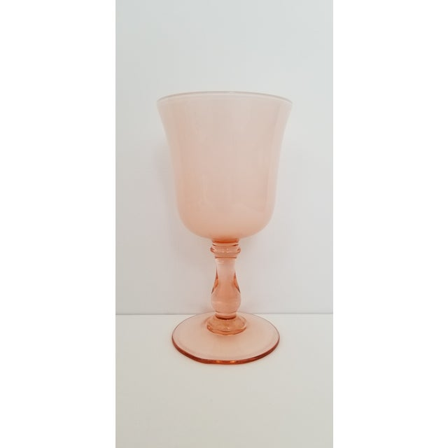 1960s Carlo Moretti Pink Cased Coupe Glasses - Set of 5 For Sale In Phoenix - Image 6 of 10