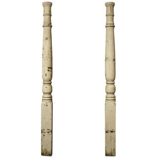 Late 19th Century American Facade Half Columns-a Pair For Sale