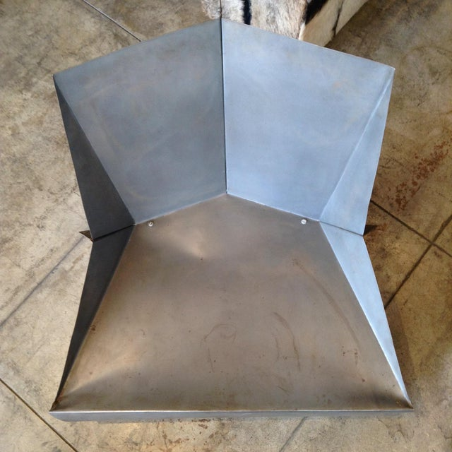 Vintage Folded Origami Steel Chair For Sale In Los Angeles - Image 6 of 7