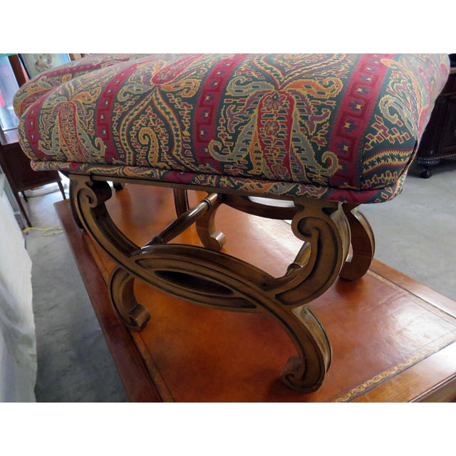 Regency Style Tapestry Upholstered Footstools - a Pair For Sale - Image 4 of 5