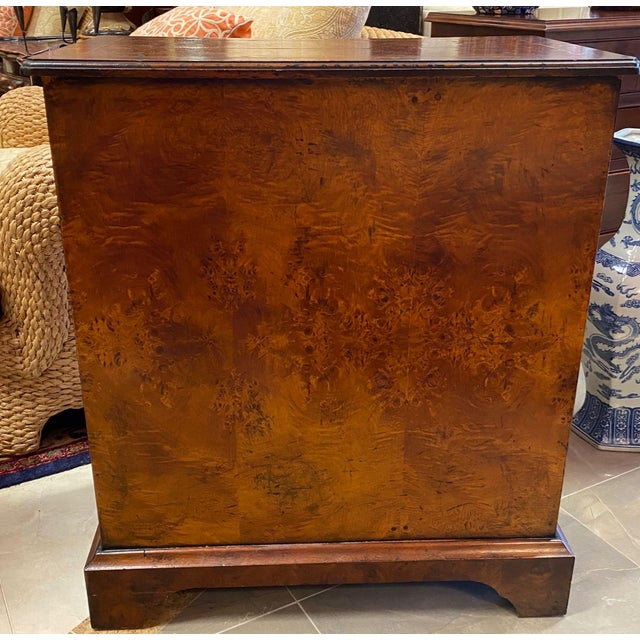 Burl Veneered All Sides 4-Drawer Chest For Sale - Image 4 of 11
