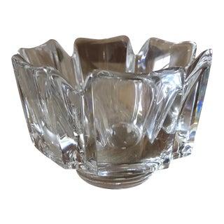 Orrefors Crystal Corona Decorative Bowl For Sale