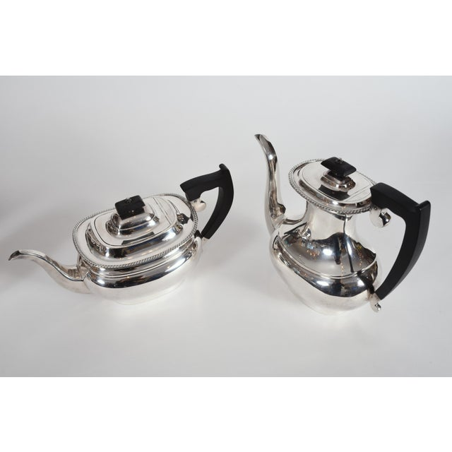 Vintage English Sheffield Sterling Silver Tea / Coffee Service - 5 Pc. Set For Sale In New York - Image 6 of 13