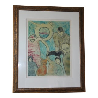 "1990s Florence Putterman ""Ancestral Kinship"" Contemporary Painting For Sale"