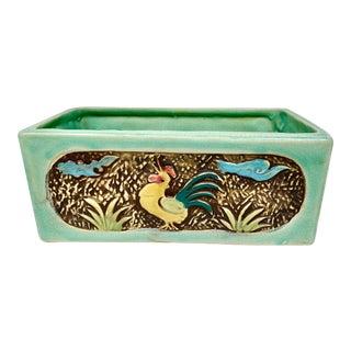 Vintage Ceramic Rooster Planter For Sale