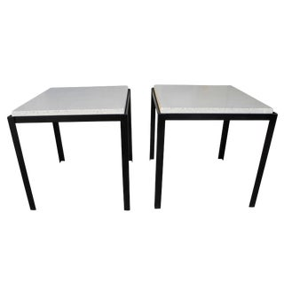 Polished Concrete and Welded Steel Nightstands/Coffee Tables by Corinne Robbins For Sale