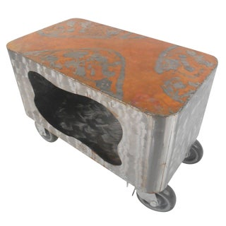 Wild Steel Copper Top Raw Paul Evans Style Finish Coffee Table For Sale