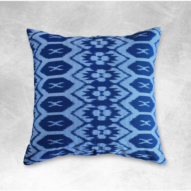 "Javanese ""Indigo Ratu"" Ikat Pillow - Image 3 of 3"