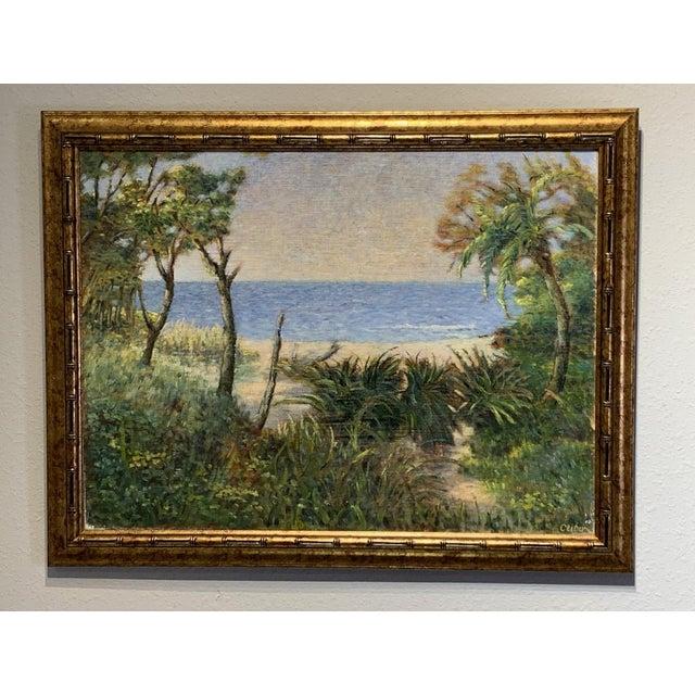 A pair of fine original oil paintings on canvas by listed artist Vladimir Ctibor. Includes a Florida Beach Scene and a...