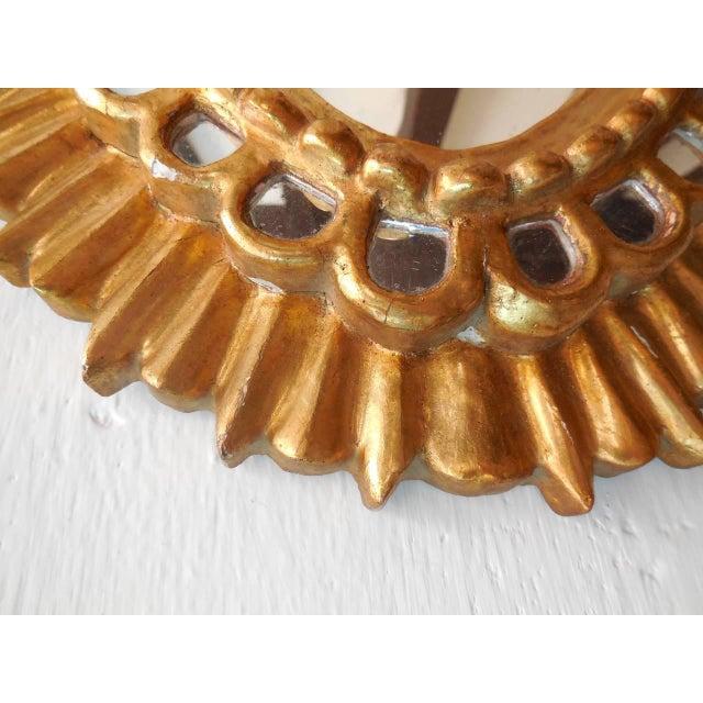 French Gold Gilt Wood Starburst Sunburst Mirror For Sale - Image 9 of 11
