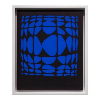 1950s Vintage Victor Vasarely Serigraph Print For Sale