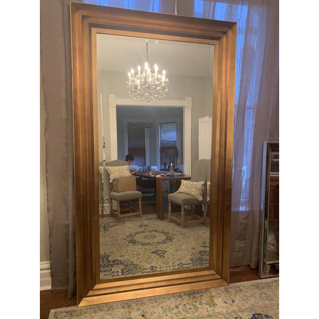 Art Deco Art Deco Gold Leaf Beveled Glass Mirror For Sale - Image 3 of 13