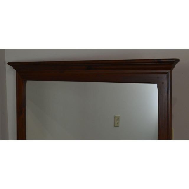 Chocolate Ethan Allen Country Craftsman Collection Pine Mirror For Sale - Image 8 of 13