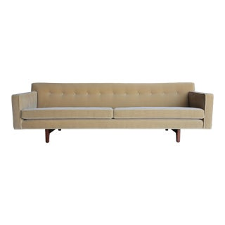 Vintage Mid Century Edward Wormley for Dunbar Bracket Back Sofa For Sale