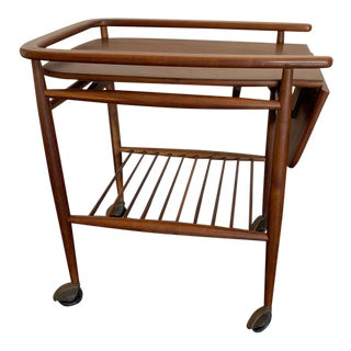 20th Century Mid Century Modern Rosewood Drink Trolley For Sale