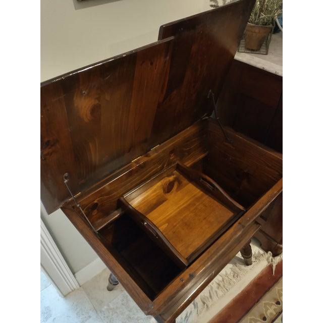 Vintage Sugar Pine Dough Trough End Table For Sale In Jacksonville, FL - Image 6 of 7