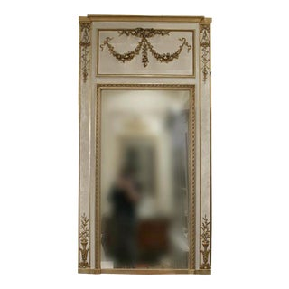 19th Century Louis XVI Trumeau Mirror For Sale