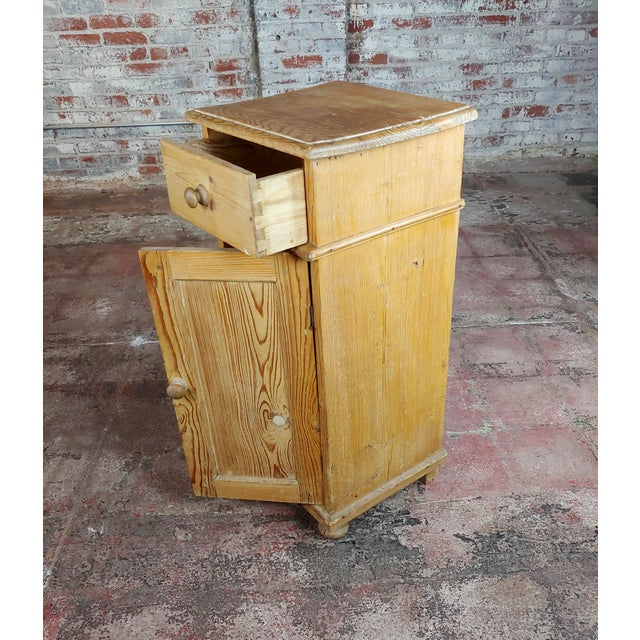 Brown Antique Pine Cabinet Stand For Sale - Image 8 of 10