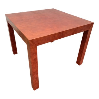 Wrapped Faux Crocodile Parsons Side Table For Sale