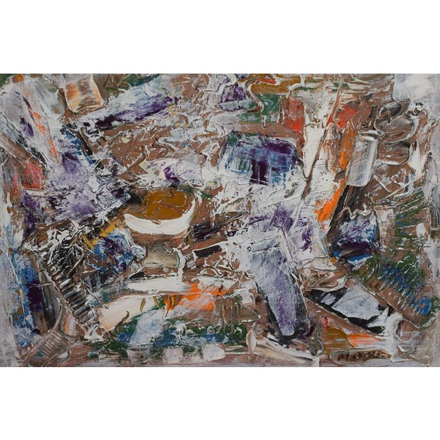 Neo Impressionism Abstract Signed Oil Painting For Sale - Image 9 of 10
