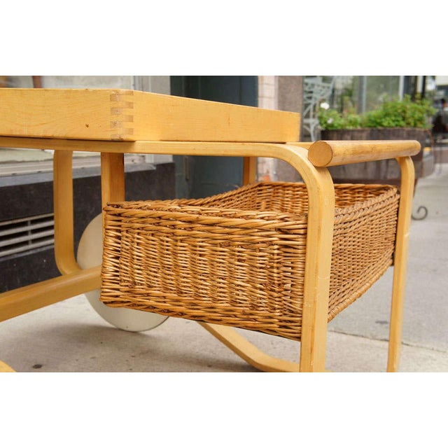 Boho Chic Alvar Aalto for Artek Bar Cart For Sale - Image 3 of 7