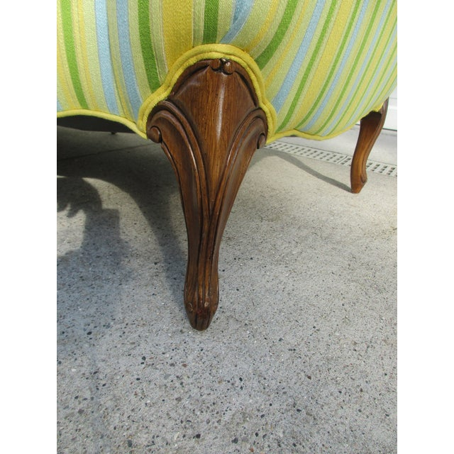 Green Vintage French Striped Sofa For Sale - Image 8 of 12