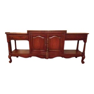 Weiman Queen Anne Carved Walnut Dining Server Cabinet