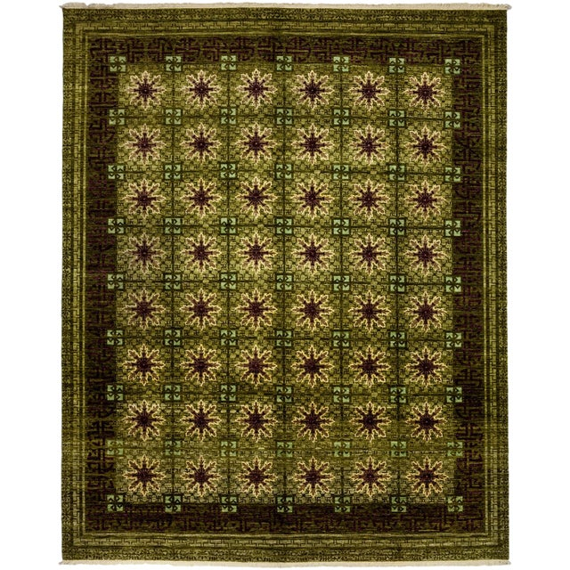 """Suzani Hand Knotted Area Rug - 8'3"""" X 10'3"""" For Sale"""