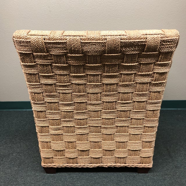 Boho Chic Ethan Allen Balta Seagrass Armchair For Sale - Image 3 of 9