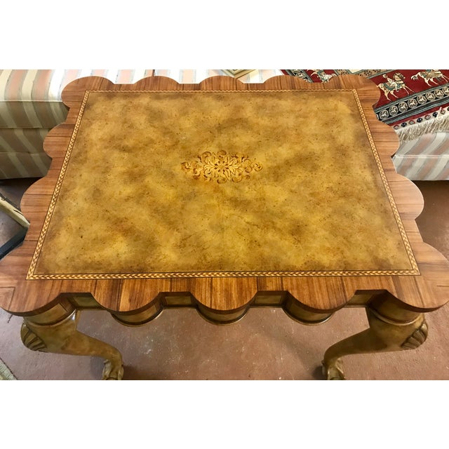Traditional Traditional Theodore Alexander Scallop Edge Side Table For Sale - Image 3 of 5