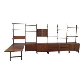 Poul Cadovius the Royal Shelving Unit With Desk Teak For Sale