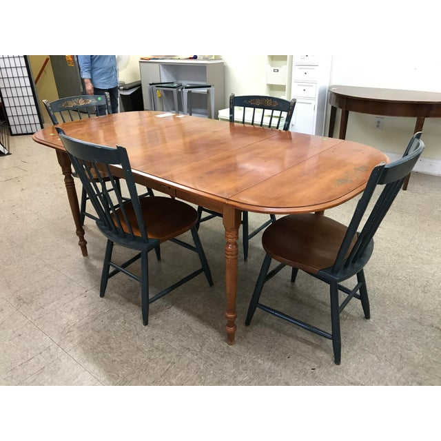 Hitchcock Drop Leaf Table Chairs