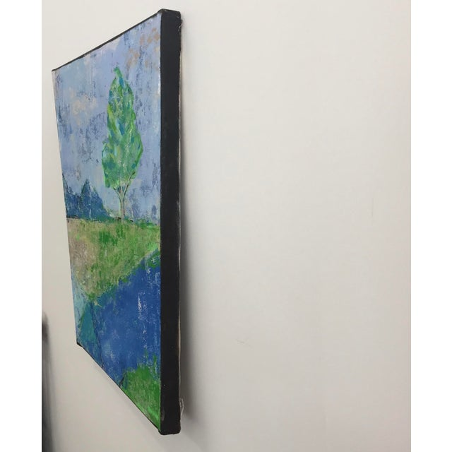 Original Acrylic on Canvas by Katherine Musser Berry depicting a tree in landscape with mountains in the background and a...