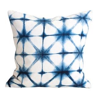 Shibori Square Pillow Cover For Sale
