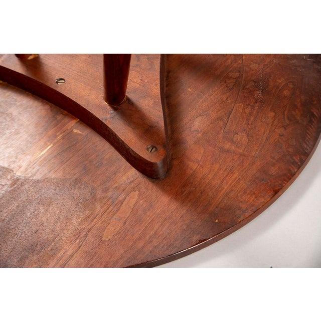 Walnut George Nakashima Splayed Leg Round Side Table For Sale - Image 7 of 10